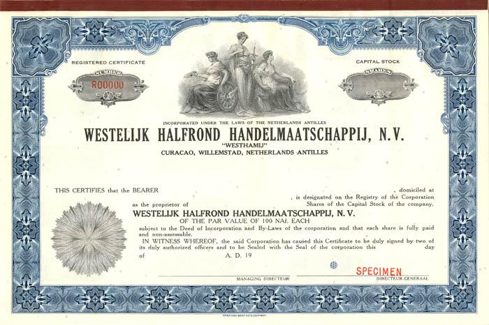 """Westelijk Halfrond Handelmaatschappij, N.V. """"Westhamij"""""""
