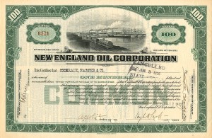 New England Oil Corporation - Stock Certificate