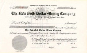 New Gold Dollar Mining Company - SOLD