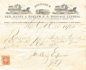 Studley's New Haven & Harlem R. R. Baggage Express