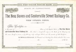 New Haven and Centerville Street Railway Co.