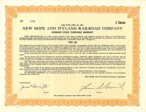 New Hope and Ivyland Railroad Company
