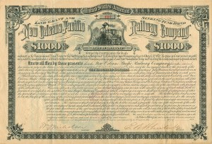 New Orleans Pacific Railway Company - $1,000