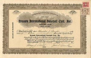 Newark International Baseball Club, Inc. - SOLD