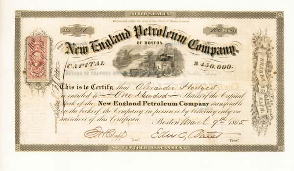 New England Petroleum Company - Stock Certificate