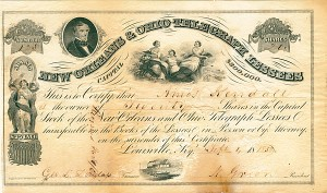 Norvin Green - New Orleans & Ohio Telegraph Lessees - Stock Certificate