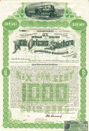 New Orleans & Southern Railroad - Bond - SOLD