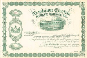 Newtown Electric Street Railway Co.