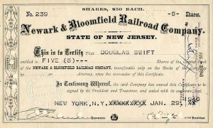 Newark & Bloomfield Railroad Company - SOLD