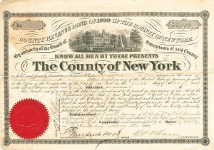 County Revenue Bond of 1860 of the County of New York