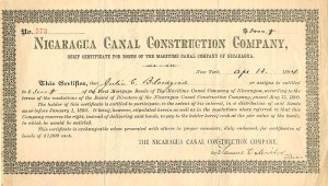 Nicaragua Canal Construction Company - SOLD
