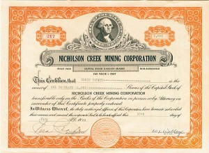 Nicholson Creek Mining Corporation