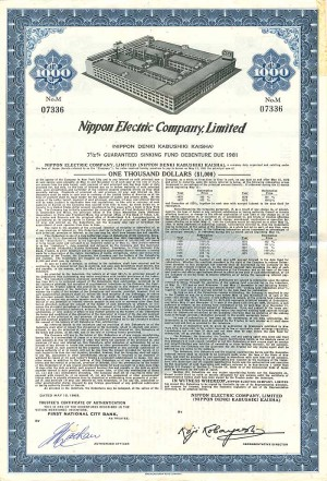 Nippon Electric Company, Limited - SOLD