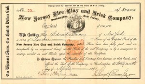 New Jersey Fire Clay and Brick Company - SOLD