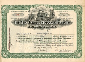 New Jersey, Indiana & Illinois Railroad Company - SOLD