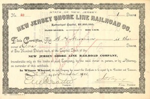 New Jersey Shore Line Railroad Co.