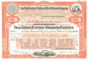 New Jersey Junction Railroad - Bond - SOLD