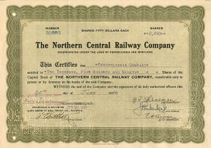 Northern Central Railway Company