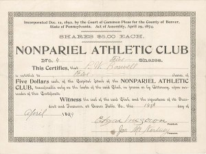 Nonpariel Athletic Club - SOLD