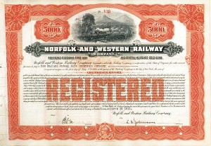 Norfolk and Western Railway - Different Denominations Available - Bond