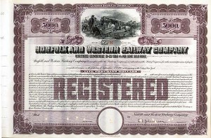 Norfolk and Western Railway - Unissued but with President's signature