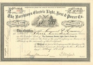 Norristown Electric Light, Heat & Power Co. - SOLD