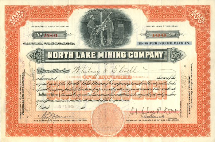 North Lake Mining Company - SOLD