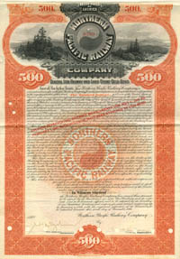 Northern Pacific Railway Company - $500 - SOLD