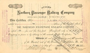 Northern Passenger Railway Company - SOLD