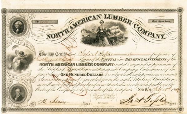 North American Lumber Company - Stock Certificate