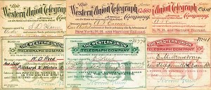 Norvin Green Western Union Telegraph Company Cards - SOLD