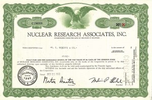 Nuclear Research Associates, Inc.  SOLD