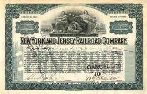 W. G. McAdoo signed New York and Jersey Railroad Company
