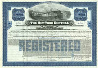New York Central Railroad Company - $10,000