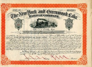 New York and Greenwood Lake Railway Company