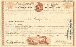 New York and Harlem Railroad Company - SOLD