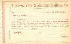 New-York & Mahopac Railroad Co.