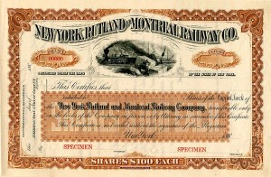 New York, Rutland and Montreal Railway Company - SOLD