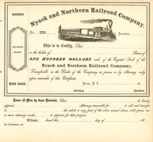 Nyack and Northern Railroad Company - SOLD