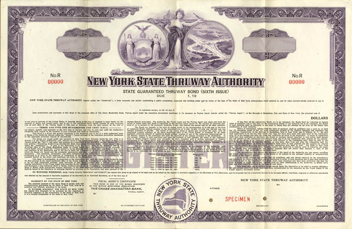 New York State Thruway Authority - Specimen