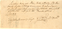 "Oliver Ellsworth and Jesse Root Autographed 1776 ""Pay Order"" War Dated Document"