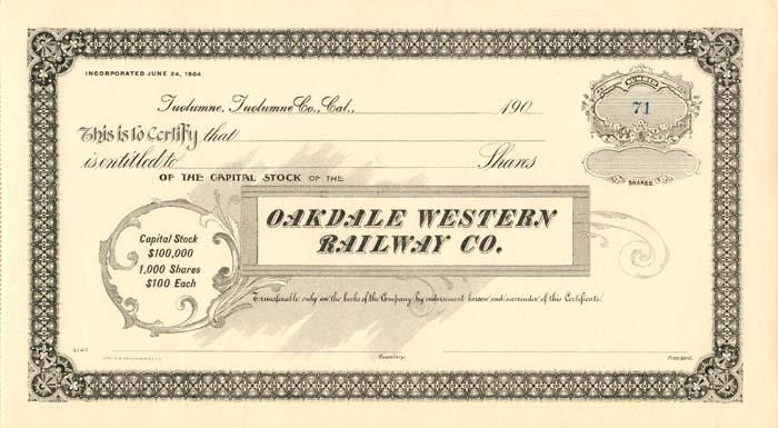 Oakdale Western Railway Co.