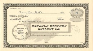 Oakdale Western Railway Co.