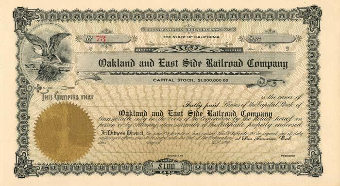Oakland and East Side Railroad Company