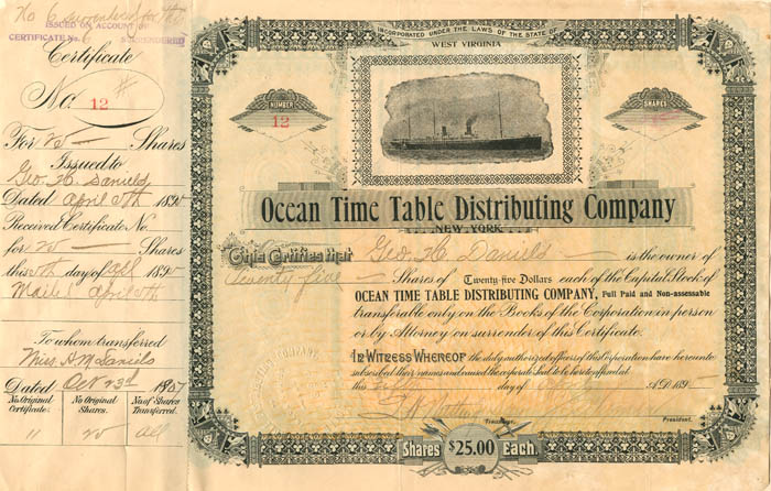 Ocean Time Table Distributing Company