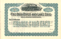 Ohio River and Lake Erie Railroad Company