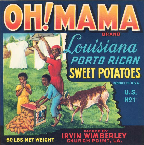 Sweet Potatoes Crate Label - Oh! Mama