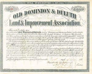 Old Dominion & Duluth Land & Improvement Association