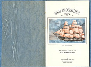 """Old Ironsides"" - a Booklet on the USS Constitution - SOLD"