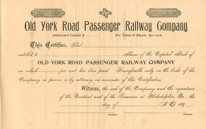 Old York Road Passenger Railway Company